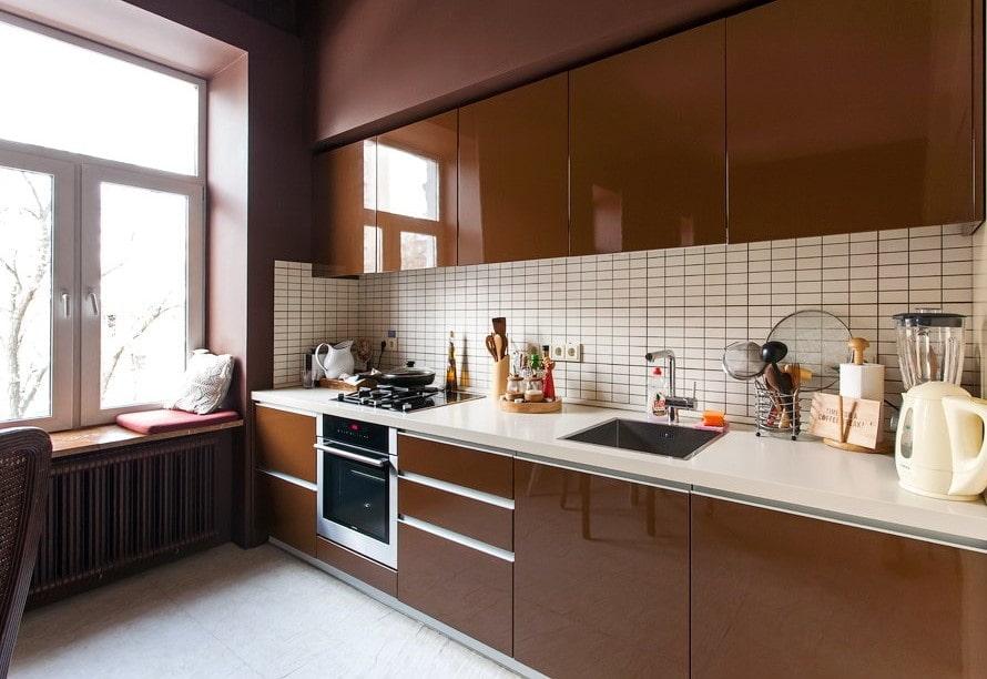Кухня в коричневом: идеи оформления, удачные комбинации