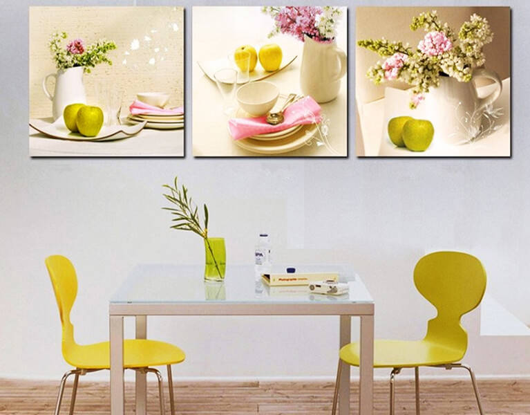 Особенности выбора картин на кухню