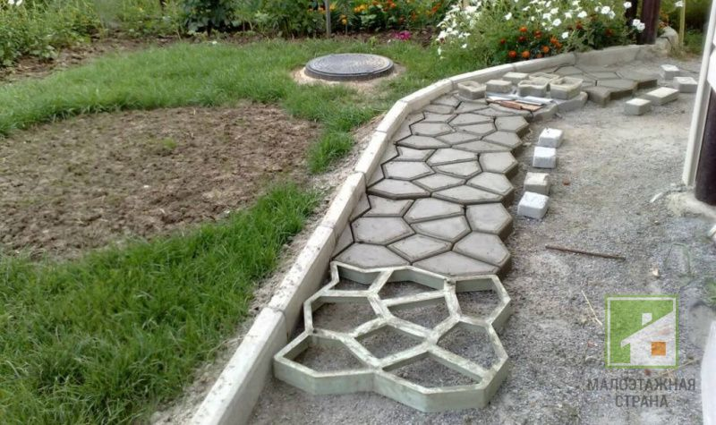 Дорожки для дачи из бетона купить форма балясин для бетона купить цена