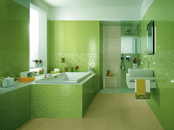 Ванная комната в зеленом цвете: важные нюансы оформления