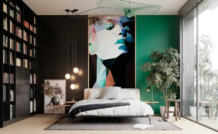Спальня с зеленой кроватью: как правильно комбинировать оттенки