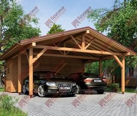 Проект дома навеса для авто 6х5