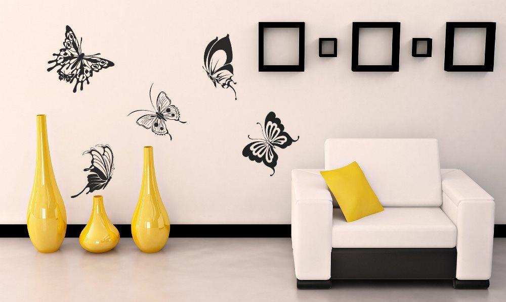 Бабочки на стене: как их сделать и как оживить в интерьере