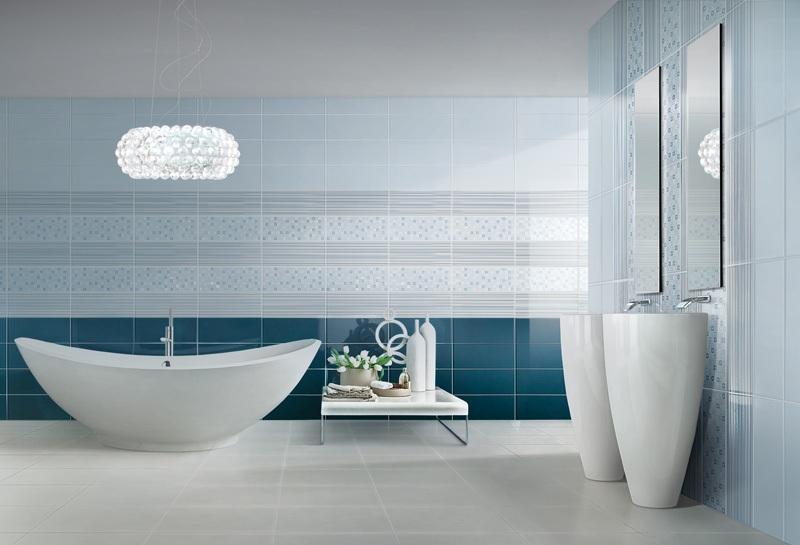 Дизайн плитки в ванную комнату: лучшие комбинации и игра с формами