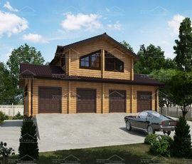 Проект дома гаража Счастливый случай