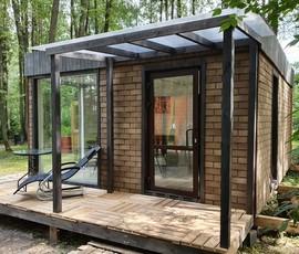 Проект дома модульной бани