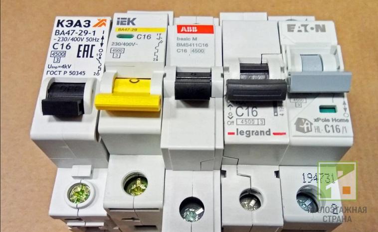 Устройство, характеристики, маркировка и схема подключения автомата с16