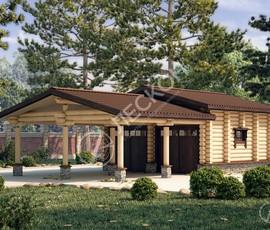 Проект дома Гараж «Верес»
