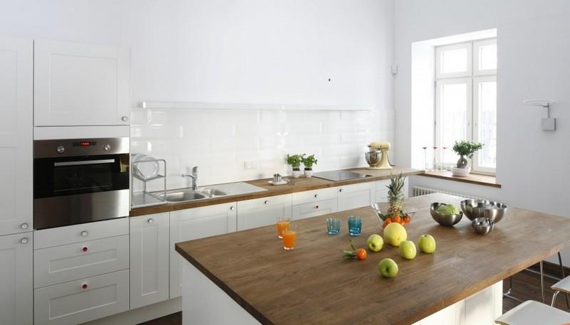 Правила и идеи обустройства кухни без верхних шкафов