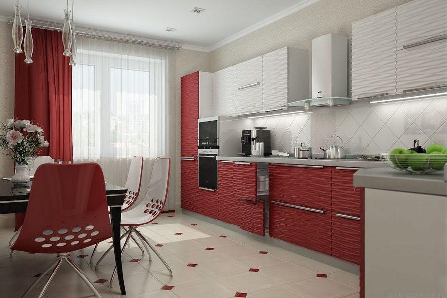 Выбор штор для кухни с балконной дверью: форма, стиль и цвет