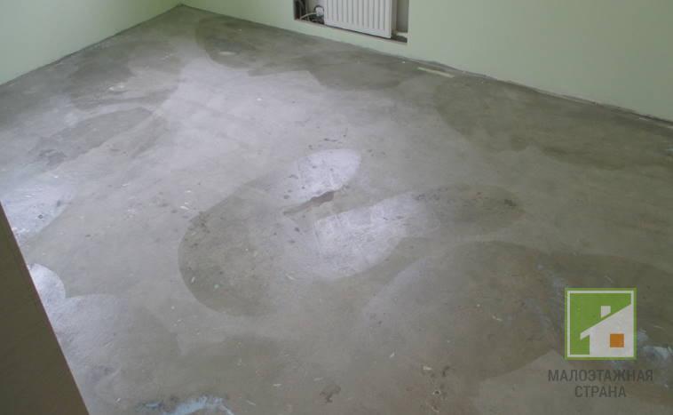 заливка полов с цементным раствором