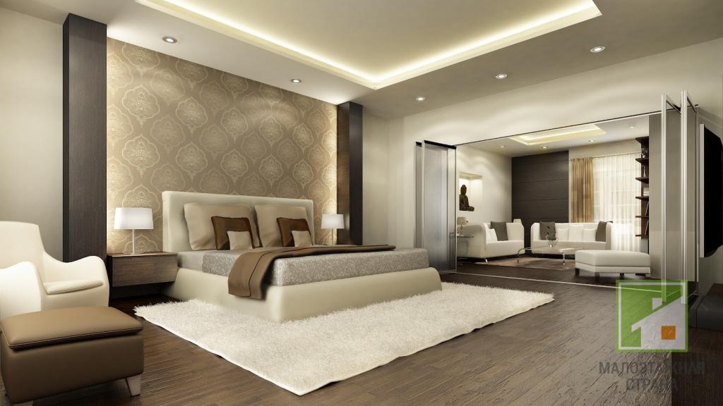 Какими могут быть интерьеры спальни в загородном доме