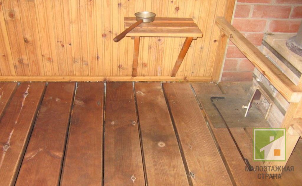 Чем покрыть пол в бане – виды применяемых материалов и их особенности