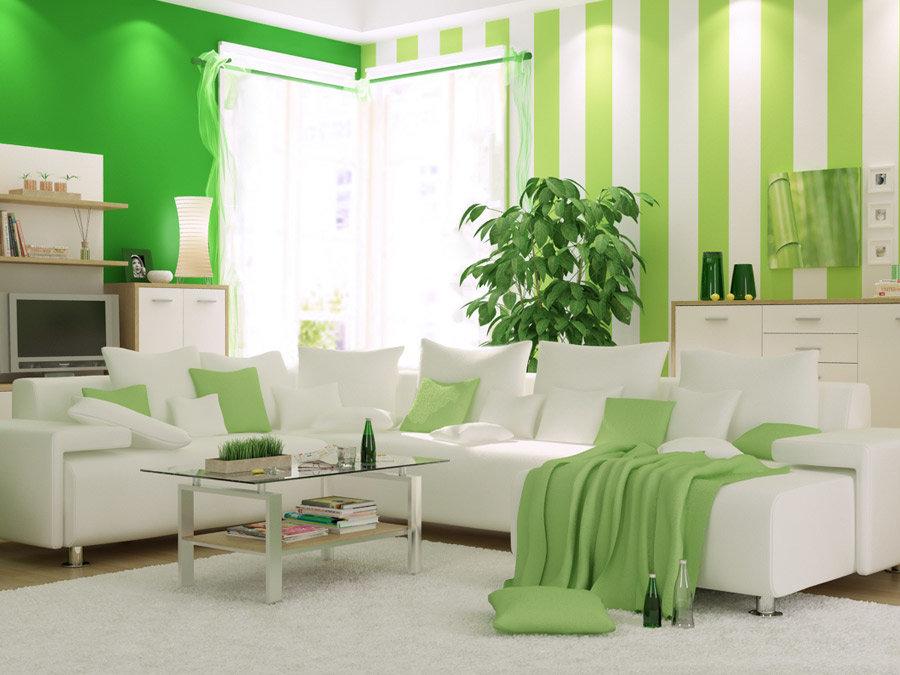Зеленый цвет в интерьере: как выбрать наиболее приемлемые варианты отделки