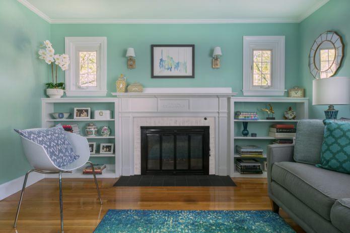 Мятный фон для дизайна интерьеров в 5 стилях