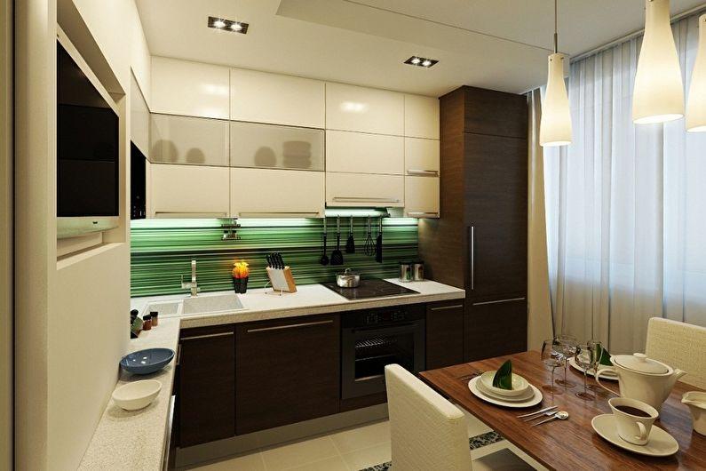 Дизайн кухни 11 кв м с диваном и балконом – 29 фото