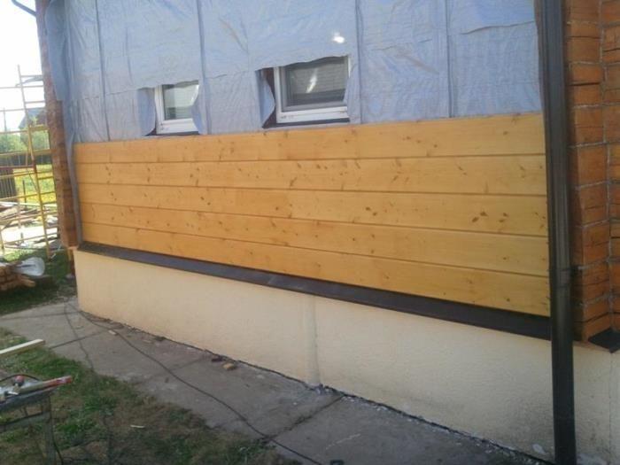 облицовка деревянного дома снаружи