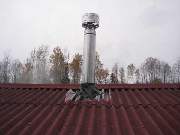 дымоход на крыше
