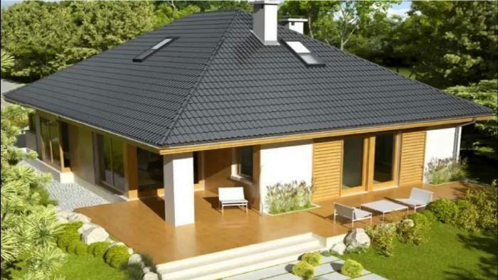 проект дома 10х10 с террасой
