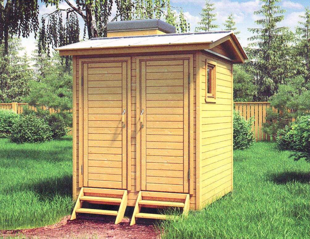 Туалет с летним душем на даче своими  758