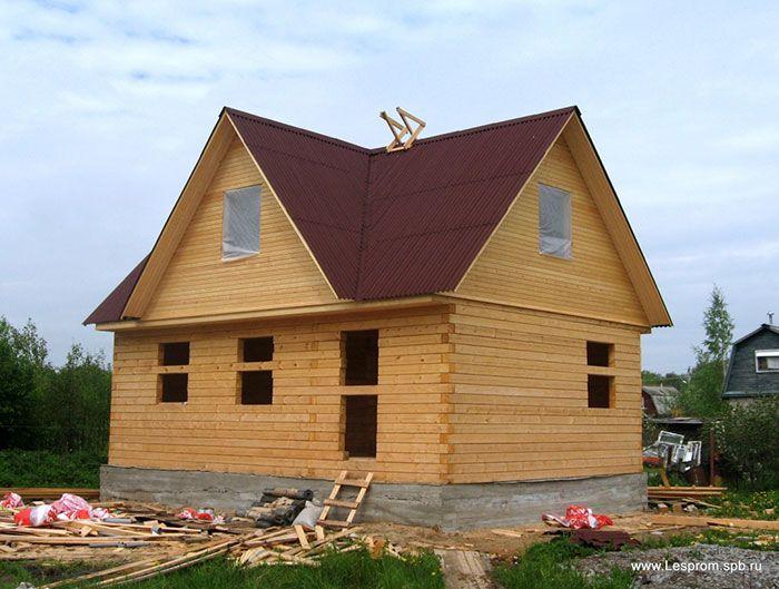 Строительство дома из бруса.