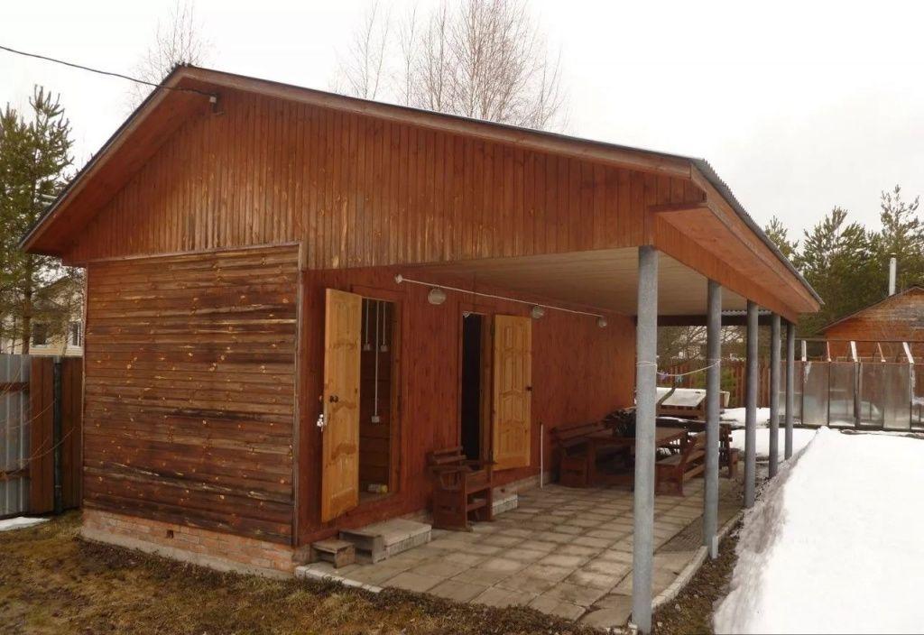 баня хозблок и веранда под одной крышей