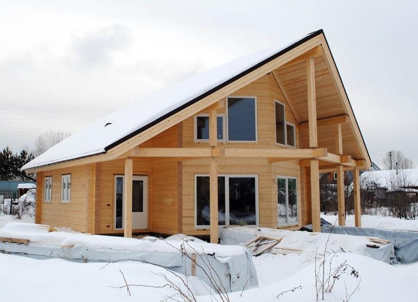 дома из двойного бруса проекты и цены