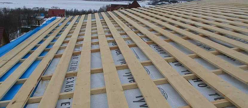 односкатная крыша в каркасном доме