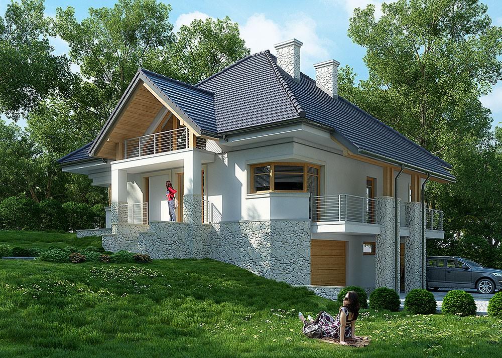 Проект одноэтажного дома на неровном участке