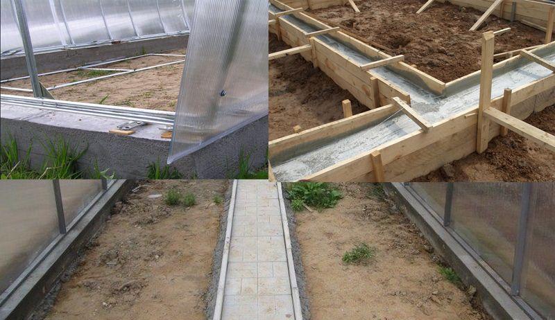 как установить теплицу на бетонный фундамент