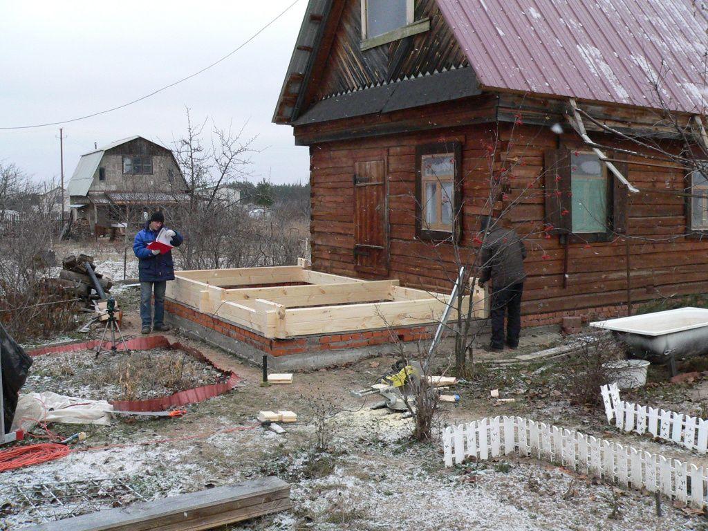 пристройка к деревянному дому из бруса