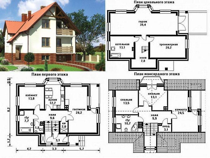 проект дома 10х12 двухэтажный