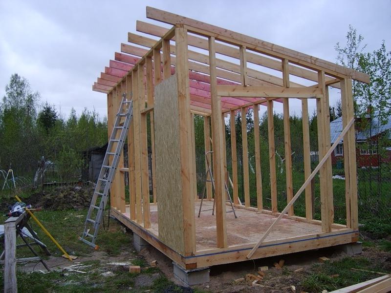 проект сарая 4х6 с односкатной крышей
