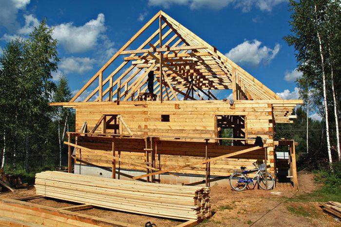 Брусовый дом строительство