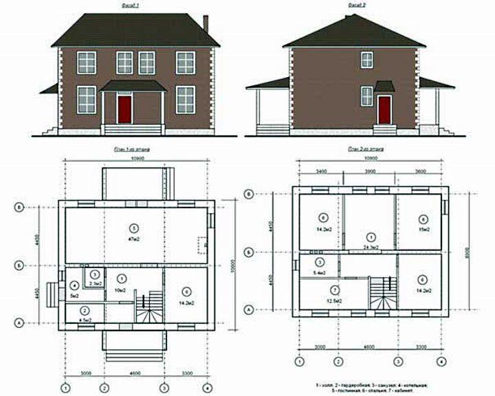 план дома 10 на 12 двухэтажный