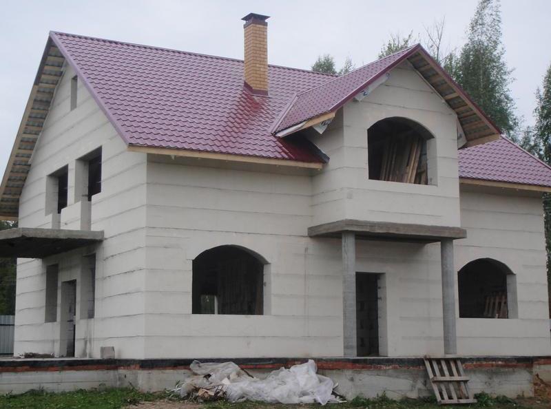 дома из блоков под ключ проекты