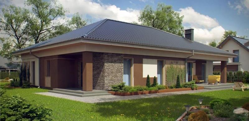 Четырехскатная крыша одноэтажного дома