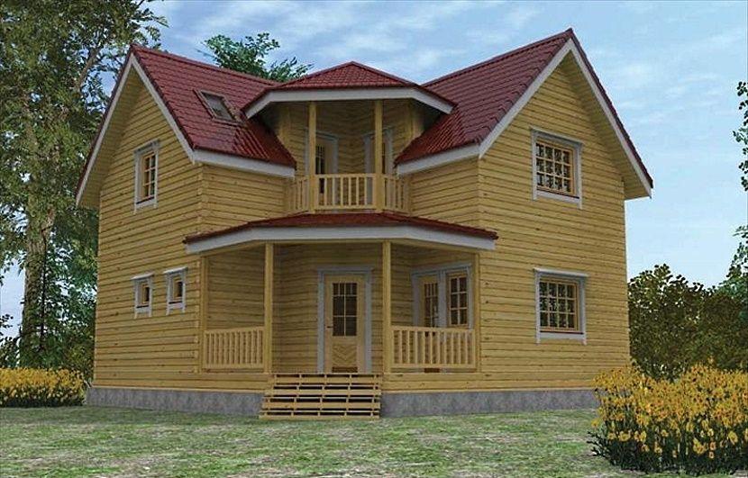 Двухэтажный дом из бруса 9×9