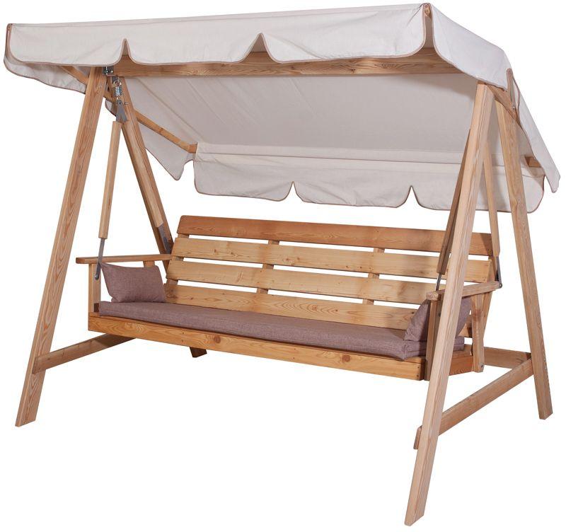деревянные качели для дачи купить