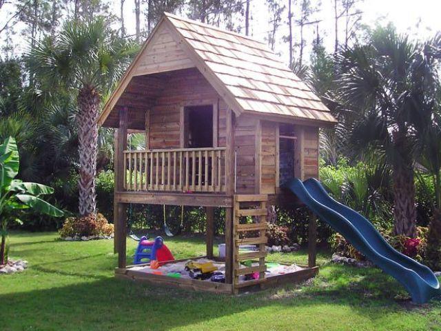 детские домики для дачи из дерева