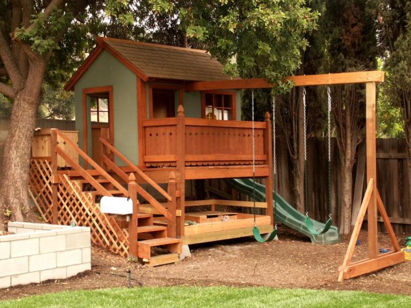 проект детского домика для дачи