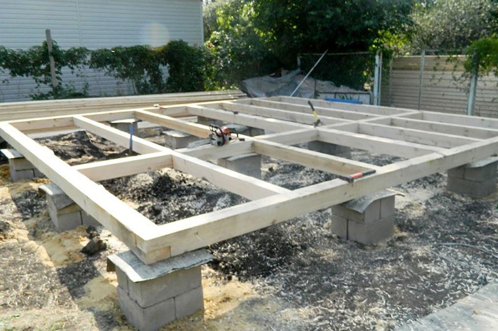 Первый этап строительства - возведение фундамента