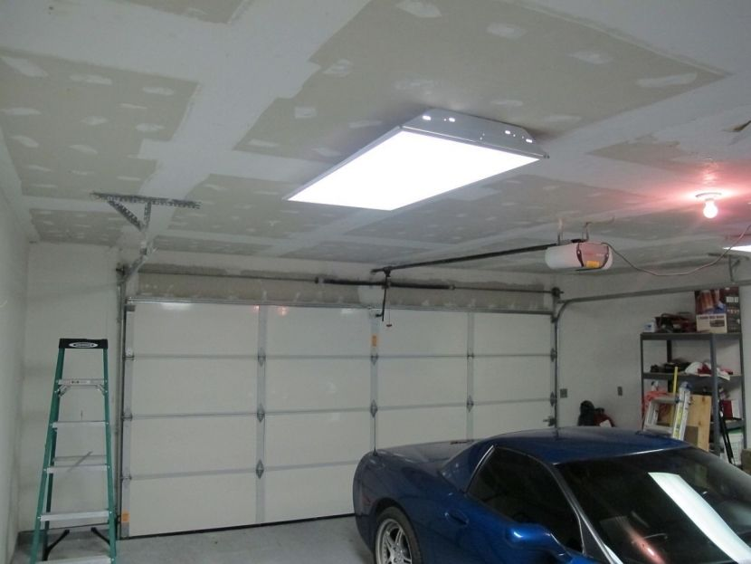 ремонт потолка в гараже
