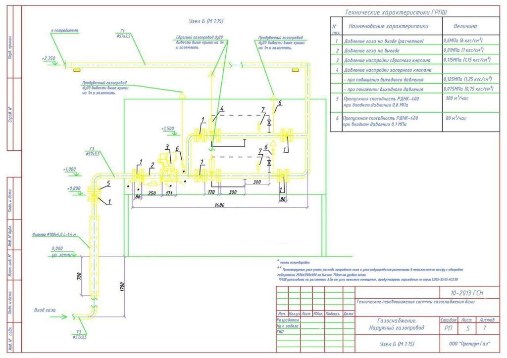 проект газоснабжения частного дома
