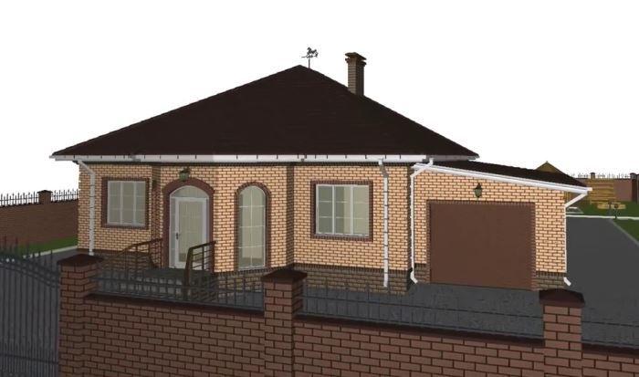 проект одноэтажного дома 10х10 с отличной планировкой