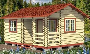 садовые домики из бруса москва
