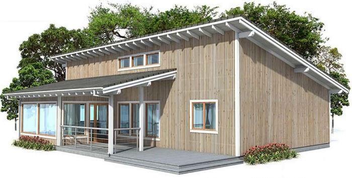 планировка одноэтажного дома 8x10