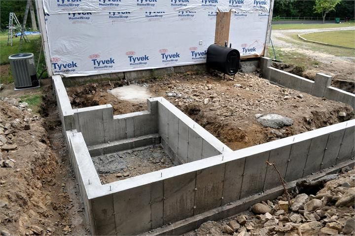 фундамент для пристройки к дому из пеноблоков