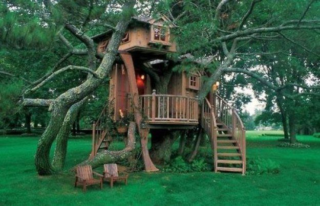 детские деревянные дома