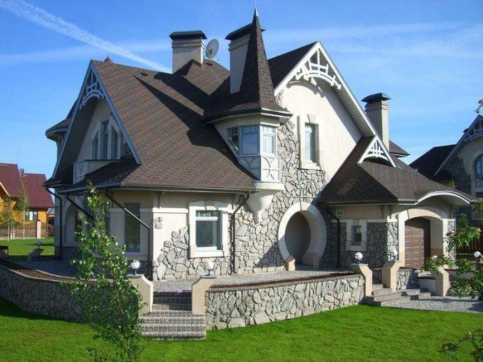 Каменные дома проекты строительство
